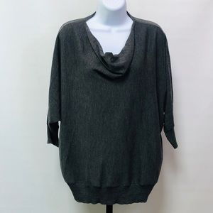 Eileen Fisher Gray Scoop Neck Wool Sweater